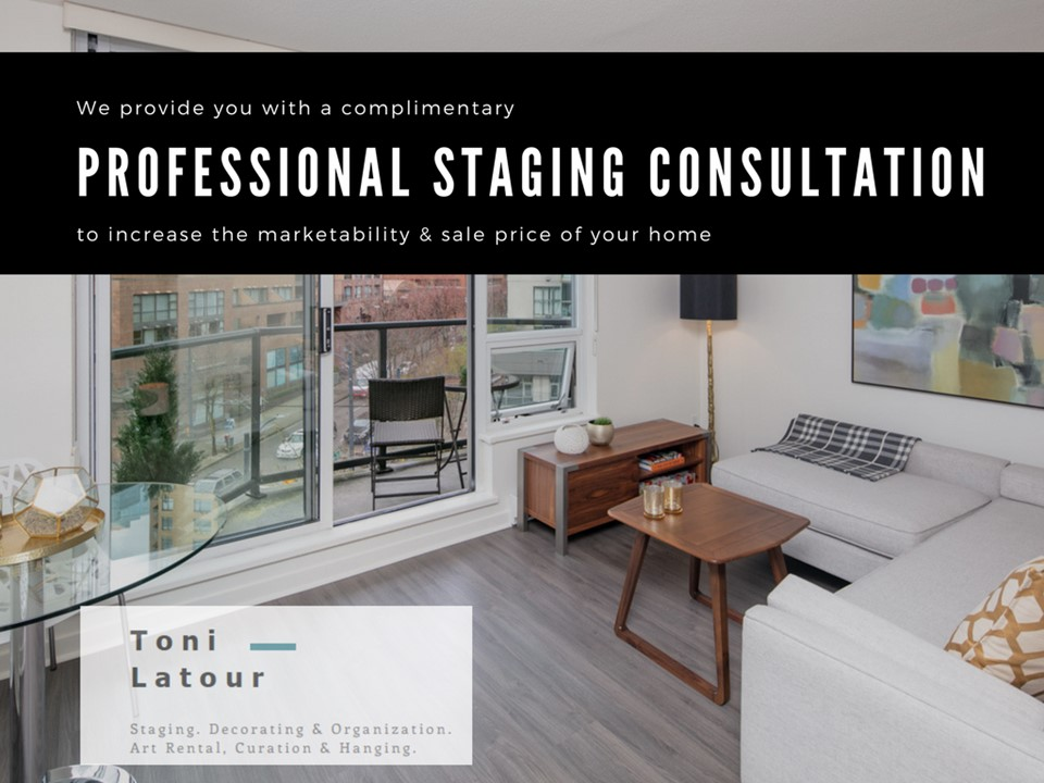 You'll get a complimentary professional staging consultation to increase the marketability & sale price of your home